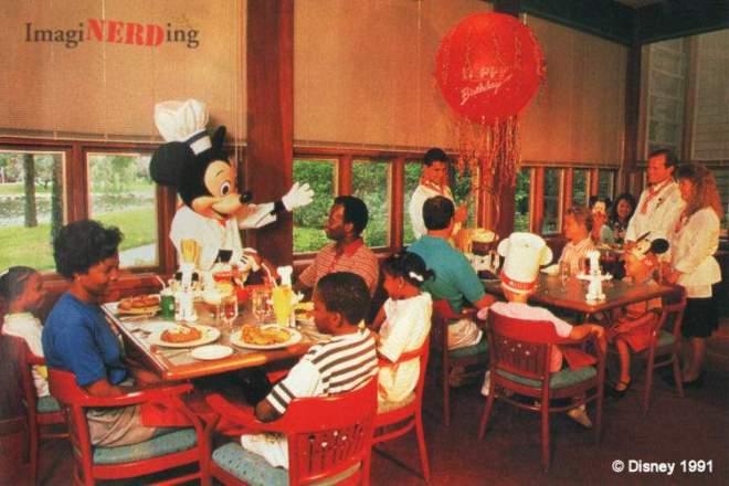 disney character dining history