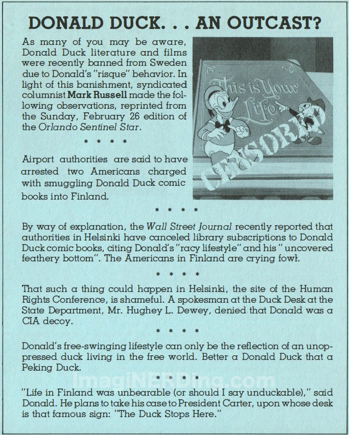 donald duck banned