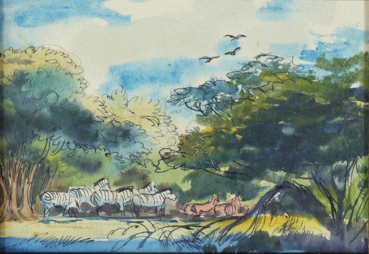 Mel Shaw, Africa travel sketch