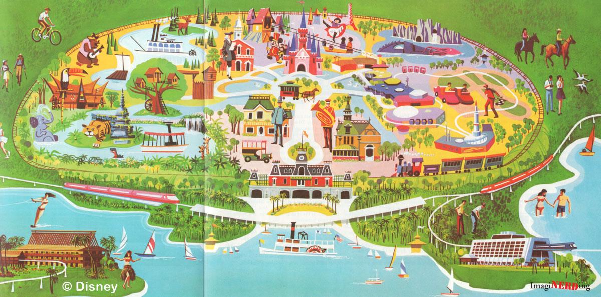 Magic Kingdom Maps Galore! - ImagiNERDing on disneyworld postcards, disneyworld attractions, disneyworld history, disneyworld transportation, disneyworld parks,