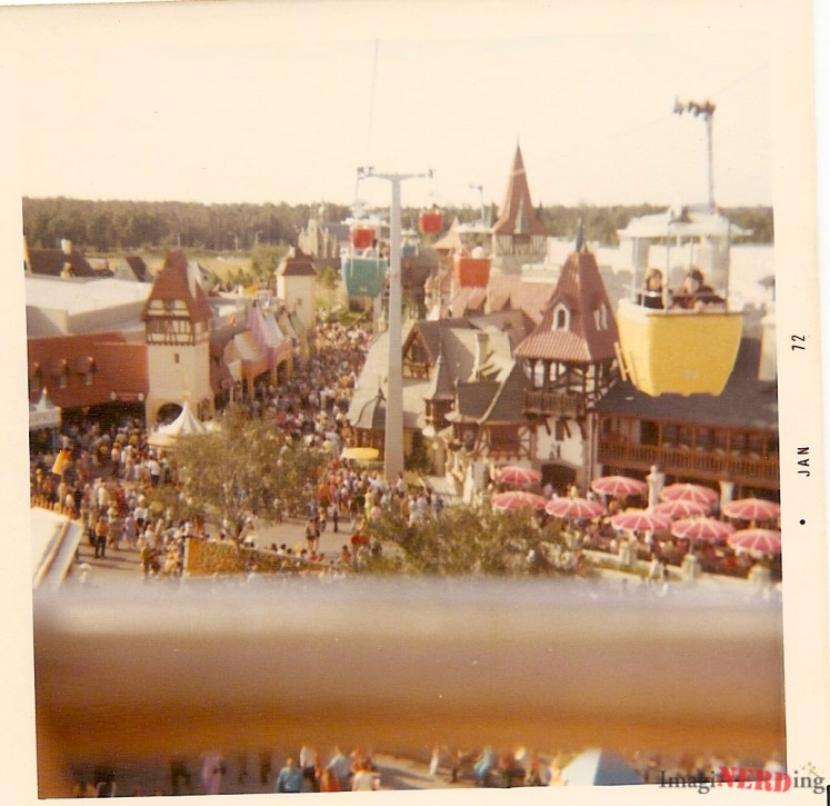 vintage magic kingdom photos Skyway over Fantasyland.