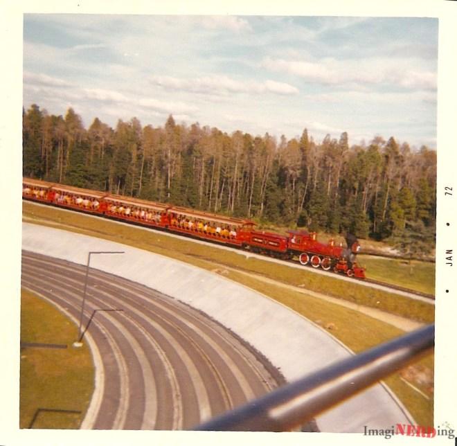 The Walt Disney World Railroad from the Skyway.