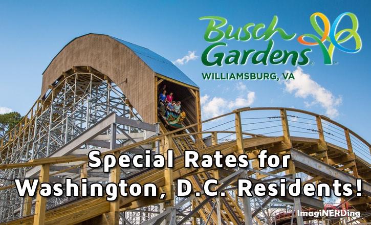 Special washington dc rates for busch gardens williamsburg - Busch gardens florida resident pass ...