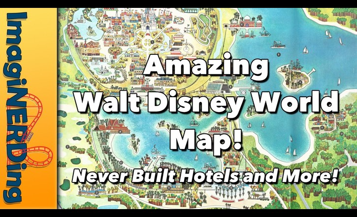 vintage Walt Disney World Map!