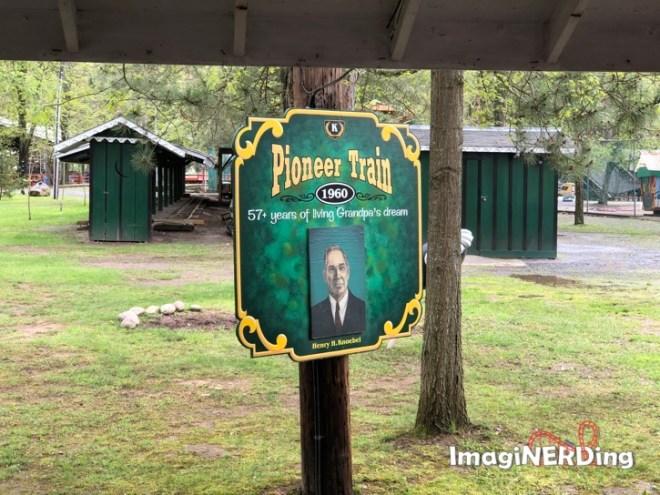 knoebels pioneer train