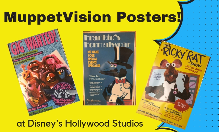 Muppetvison Posters at Disney's Hollywood Studios