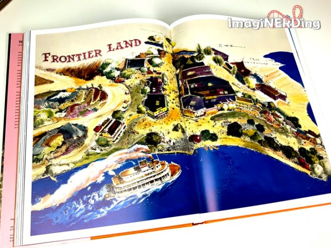 concept art of Frontierlnd at Disneyland from the book Walt Disneys Disneyland