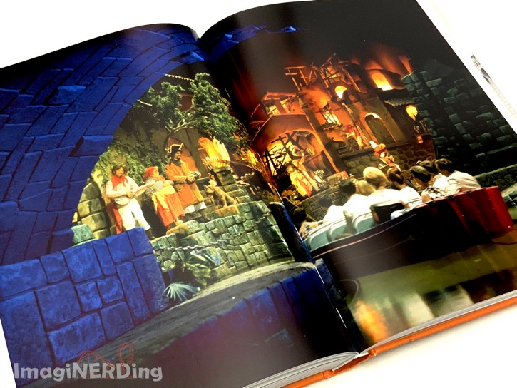 a picture from inside the Pirates of the Caribbean ride Disneyland from Walt Disney's Disneyland book