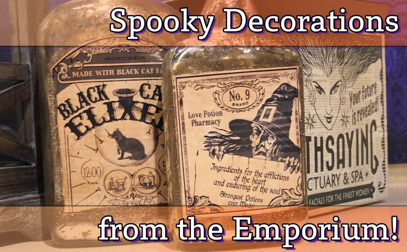Halloween Decor at the Emporium at the Magic Kingdom