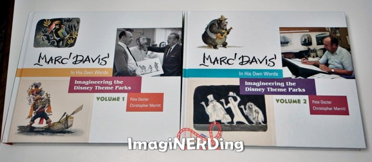 volume one and volume two of the new Marc Davis In His Own Words book by Pete Docter and Christopher Merritt
