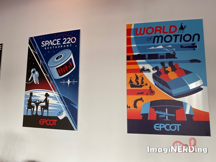 space 220 world of motion epcot experience attraction posters