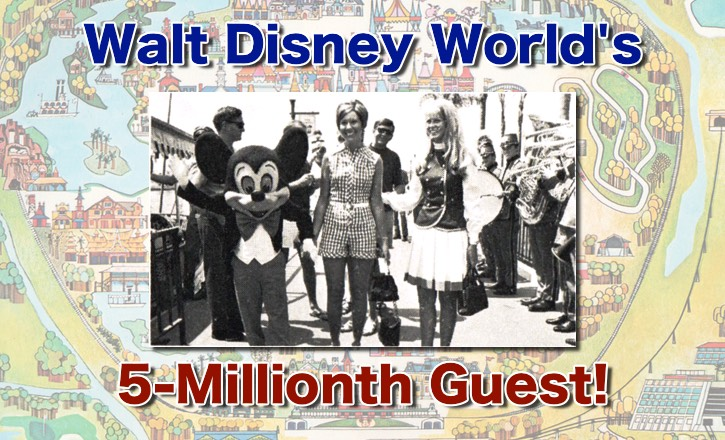 Five Millionth Disney World Guest and Pooh for President!