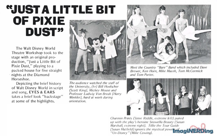 Just a Little Pixie Dust article from 1972 Eyes and Ears newsletter