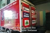 Branding Stiker Mobil Box Toyota Dyna (belakang) milik PT Mikatasa Surabaya