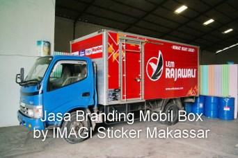 Branding Stiker Mobil Box Toyota Dyna (k iri) milik PT Mikatasa Surabaya