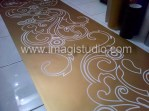 cutting sticker motif floral batik