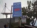 signage neonbox IOP di Jl. Cendrawasih Makassar ukuran 1 x 2 Meter. di jl Cendrawasih