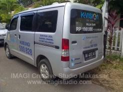 Sticker Mobil Operasional K-Vision belakang