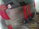 Sticker ala VW pada belakang New KIA Picanto