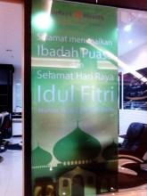 Jasa Pemasangan Stiker Sandblast Print di Tenant Trans Mall Makassar pesanan Jakarta