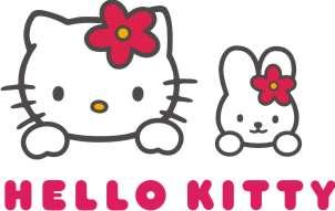 hello kitty dengan adik dan tulisan