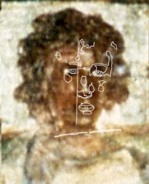 Abb. 33: Christus mit Skizze (Domitilla-Katakombe)