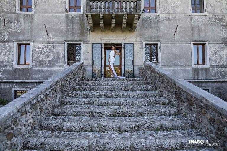 Foto dello shooting fotografico al castello di Susans
