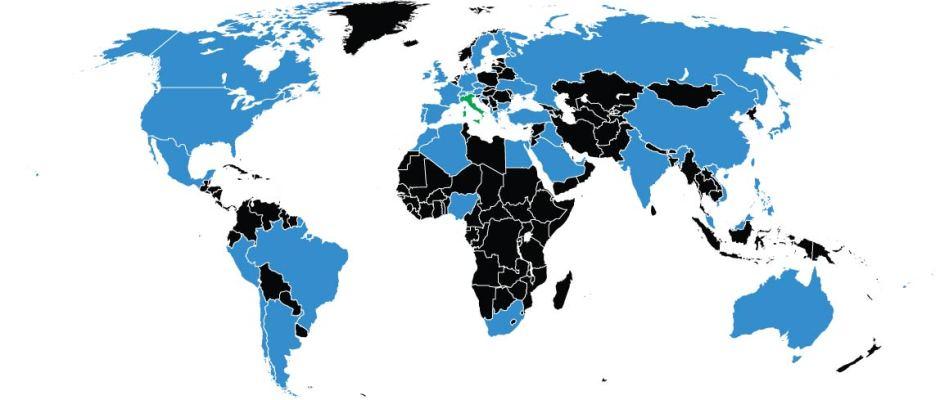 Mappa mondiale visite sito