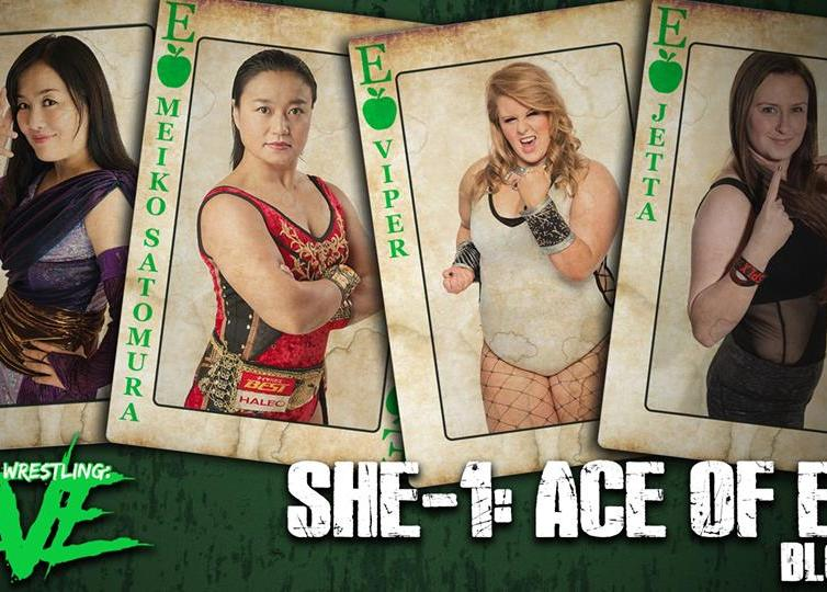 Emi Sakura, Meiko Satomura, Viper and Jetta at She1: Ace of EVE