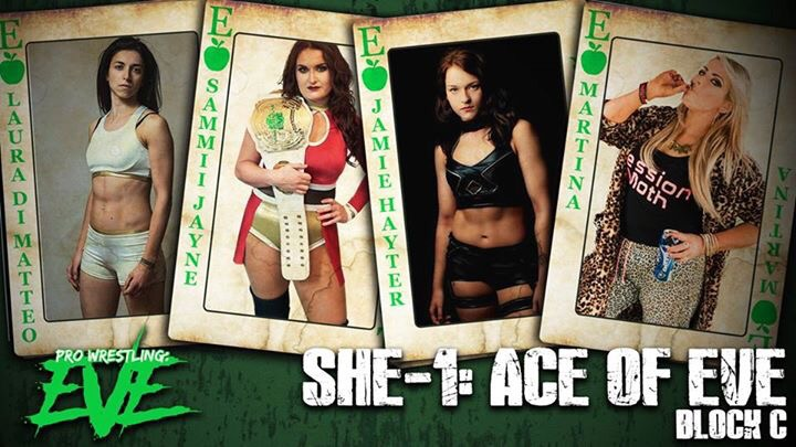 Laura Di Matteo, Sammi Jayne, Jamie Hayter and Session MOth Martina in She-1: Ace of EVE
