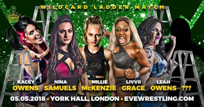 Wildcard ladder match graphic for Wrestle Queendom