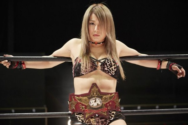 Io Shirai wrestles in Stardom