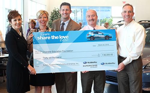 Subaru Superstore Donates Over 90000