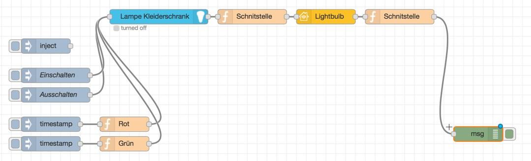 Node-Red: Nicht HomeKit zertifizierte Lampen an HomeKit anbinden via Hue Teil1