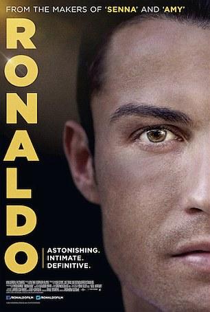 "Posteri Zyrtar i filmit ""Ronaldo"" - Credits Cristiano Ronaldo"