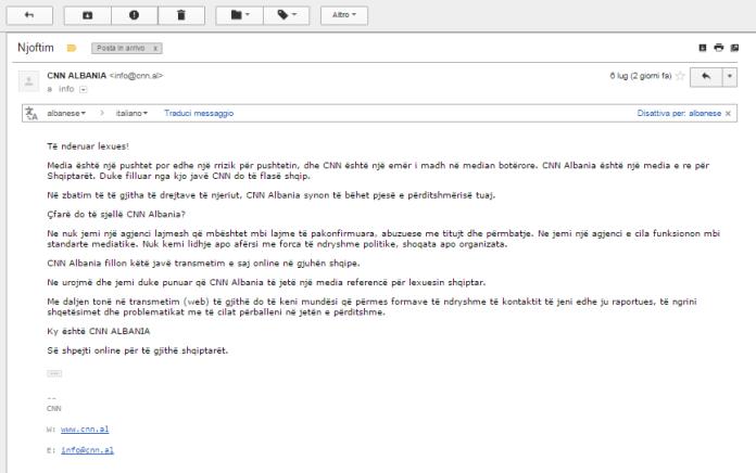 email cnn albania