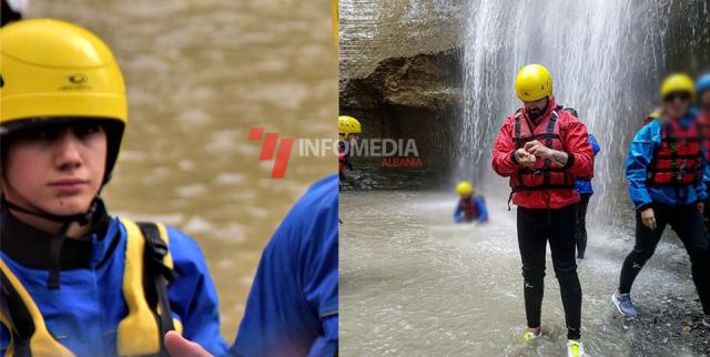 Në të majtë foto e mbërritur në redaksi. Në të djathtë alfio në kanionet e Osumit.