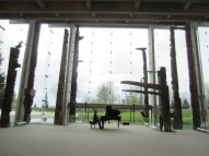 Dress rehearsal of Voyage, Piano Sonata, at the Museum of Anthropology in Vancouver, 2013