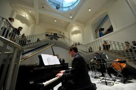 Performance of In the Shimmer of Shining Hues commissioned by the Canadian Music Center and the Canadian League of Composers at the Vancouver Art Gallery performed by Ethos Collective, June 2012
