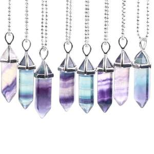 Crystal Pendant Necklace Gemstone Women Jewelry