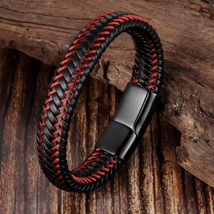 Leather Mens Bracelets for Men Men Jewelry