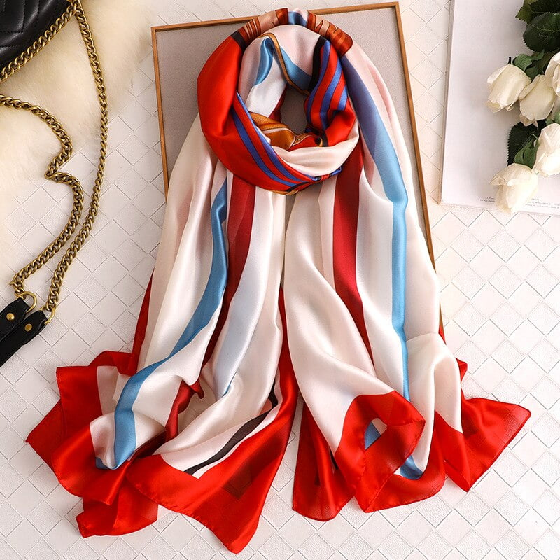 Women Soft Colorful Summer Scarf