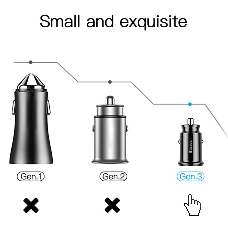 New 3.1A Mini Dual USB Car Charger for Fast Speed Charging
