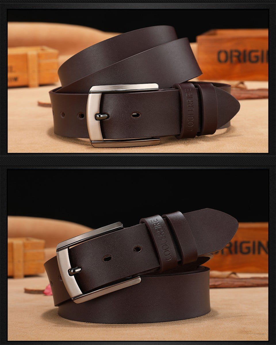 New Black Leather Belt for Fashionable Men Men's Clothing and Accessories 7