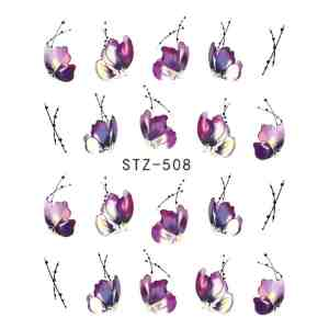 Flower Water Transfer Nail Stickers Beauty & Health 14