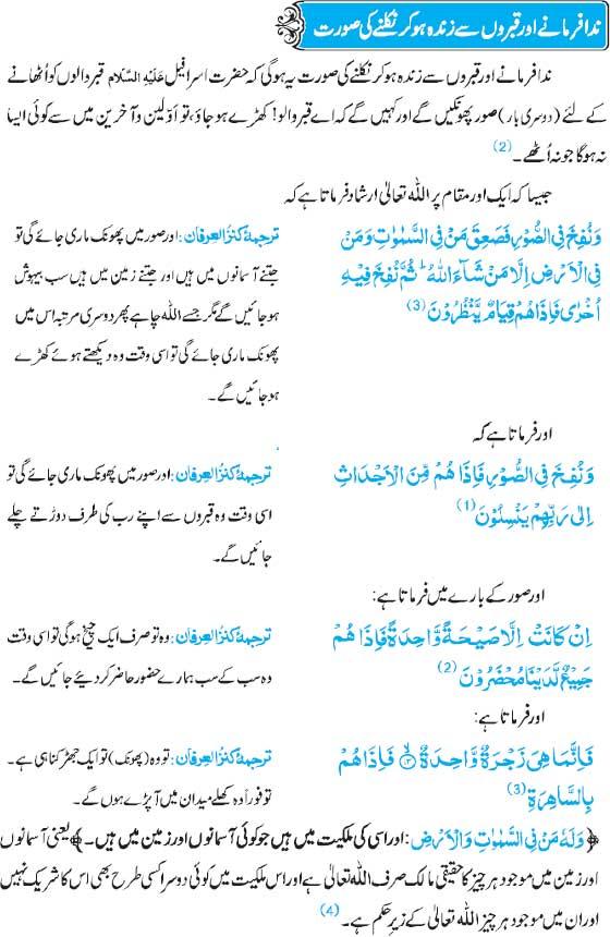 Qabroon Say Zinda Ho Kar Nikalnay Ki Soorat