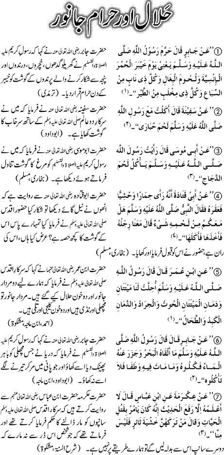 Halal Aur Haram Janwar