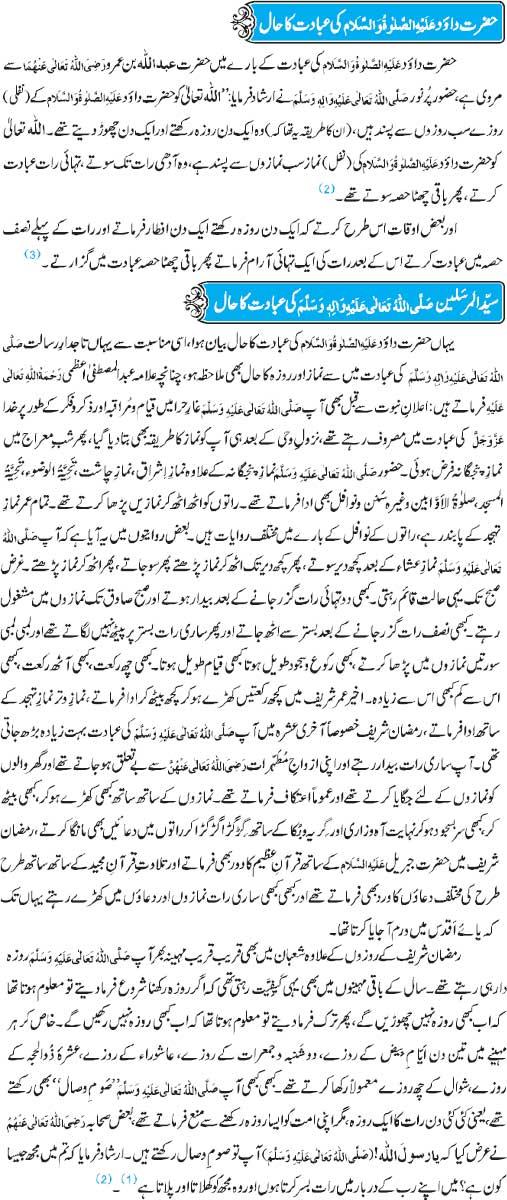 Hazrat Dawood(A.S) Aur Syed-Ul-Mursaleen(PBUH) Ki Ibadat Ka Hall