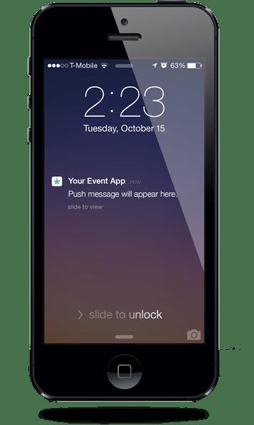Push notification screen shot
