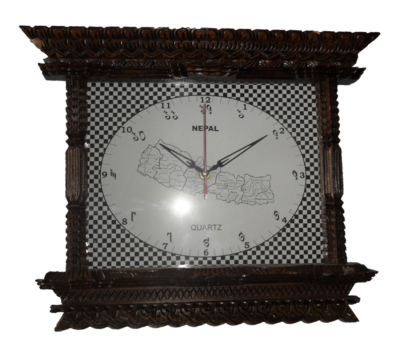 artistic wooden framed clock